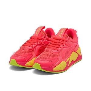 Puma RS-X Softcase Shoes Pink Alert/Yellow Size 6